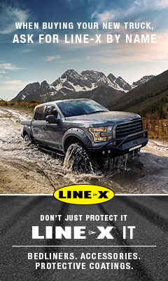 Line X Hudson WI New Richmond Accessory Shop Truck Protective Coating Cover 240x400