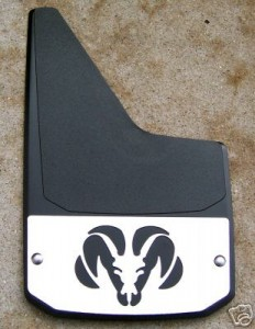 mud flaps, mud guards, logo mud flaps, stainless steel mud flaps, dually mud flaps